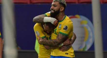Gabigol fez o terceiro gol do Brasil contra a Venezuela
