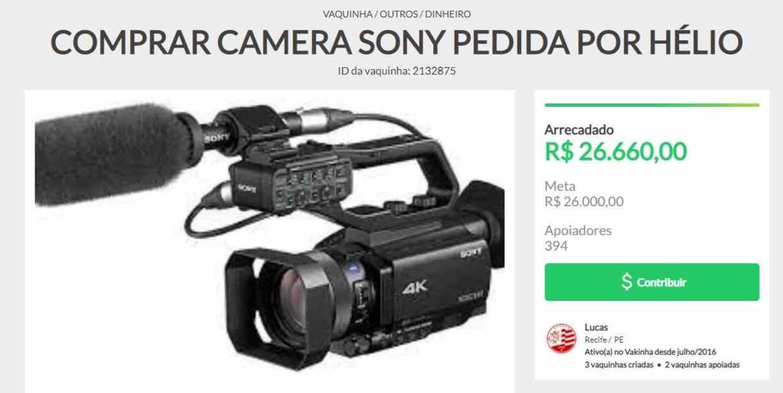REPRODUÇÃO/VAKINHA.COM.BR
