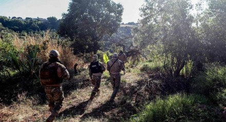 17 06 2021 GIRASSOL GO Policiais se mobilizam para capturar Lazaro Barbosa, suspeito de assassinatos em serie. Lazaro esta foragido ha mais de uma semana   FOTO GABRIELA BILO / ESTADAO