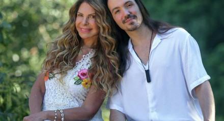 Elba Ramalho com o filho Luã, fruto de seu relacionamento com o ator Maurício Mattar