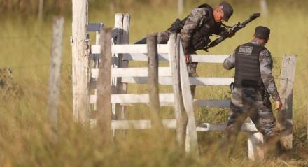 18 06 2021 GIRASSOL GO Policiais se mobilizam para capturar Lazaro Barbosa, suspeito de assassinatos em serie. Lazaro esta foragido ha dez dias   FOTO GABRIELA BILO / ESTADAO
