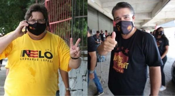 Nelo Campos (E) e Delmiro Gouveia (D) disputaram a última eleição do Sport