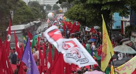 Ato contra Bolsonaro no Recife no dia 19 de junho de 2021