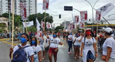 Ato no Recife contra o presidente Jair Bolsonaro