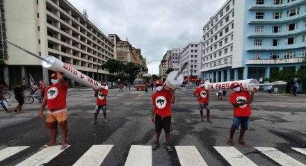 Ato contra o presidente Jair Bolsonaro no dia 19 de junho de 2021