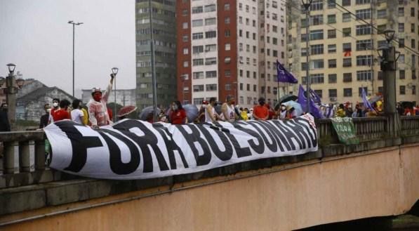 Ato no Recife contra o presidente Jair Bolsonaro no dia 19 de junho