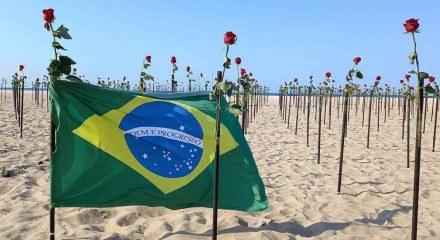 A ação foi ideia da ONG Rio de Paz