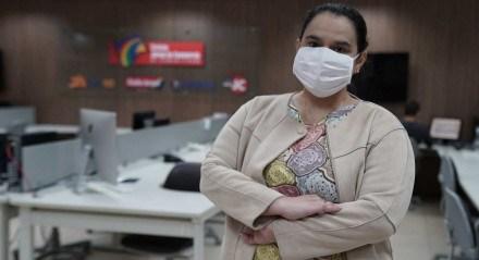 A jornalista Cinthya Leite