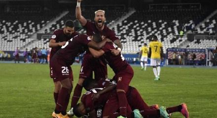 Venezuela conseguiu empate heroico no final da partida contra o Equador