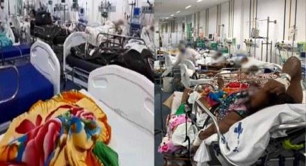 Imagens mostram pacientes e corpos dividindo espaço em sala do Hospital Getúlio Vargas, no Recife