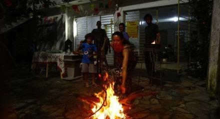 Família da arquiteta Ana Paula comemorando o São João
