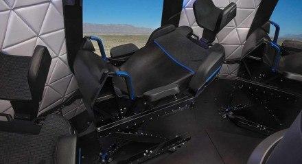 Assentos da cápsula do foguete