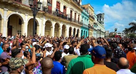 Protestos contra o governo cubano em Havana