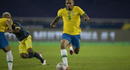 Gabriel Jesus estava disputando a Copa América com a seleção brasileira