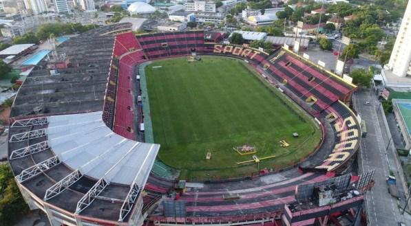 Vista aérea do Estádio da Ilha do Retiro