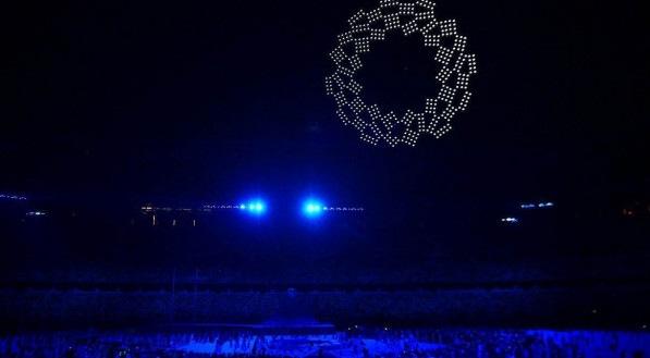 Cerimônia de abertura dos Jogos de Tóquio 2020 contou com um espetáculo de drones