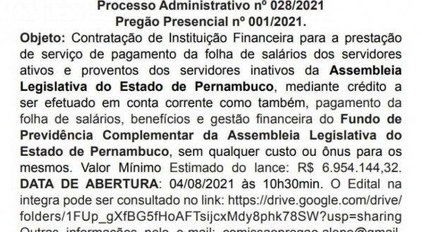 Diário Oficial do Estado de Pernambuco