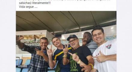 Fabrício Queiroz reclamou me postagem no Facebook de suposto abandono
