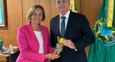 Bolsonaro se encontrou com a deputada alemã Beatrix von Storch