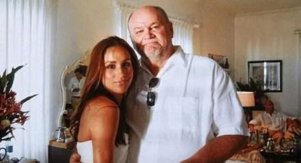 Meghan Markle e seu pai Thomas Markle