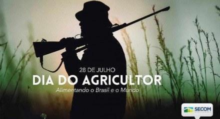 Foto publicada pela Secom - PR e depois apagada em homenagem ao Dia do Agricultor em 28 de julho.