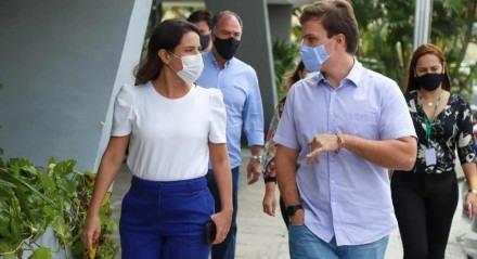 O prefeito de Petrolina, Miguel Coelho, está em campanha para o governo do Estado, em 2022