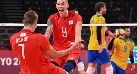 Rússia venceu o Brasil no vôlei masculino