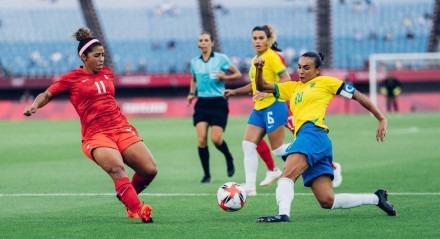 Não foi desta vez que o ouro no futebol feminino veio para o Brasil.