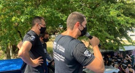 Policiais estão em campanha salarial, neste momento