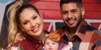 Virginia Fonseca e Zé Felipe com a filha, Maria Alice