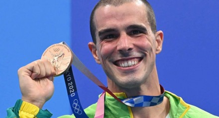 Bruno Fratus conquistou o bronze nos 50 m livre