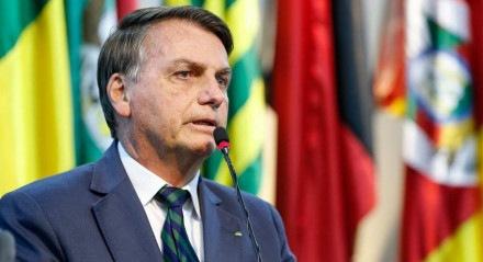 Bolsonaro no lançamento do programa Água nas Escolas, nesta segunda (2)