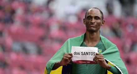 Alison dos Santos conquistou o bronze nos 400m com barreiras nos Jogos de Tóquio-2020