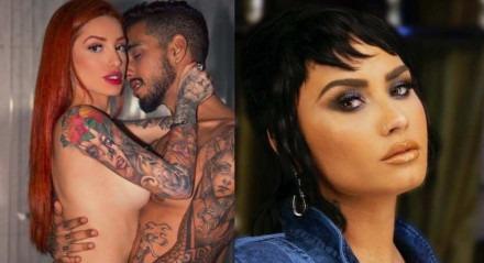 O casal Brenda Paixão e Matheus Sampaio investiu em Demi Lovato