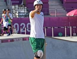 Campeão mundial em 2018, ele chega ao pódio na primeira aparição do skate nas Olimpíadas.