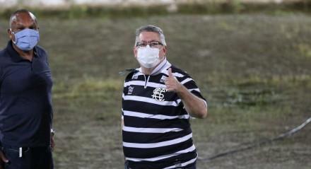 Joaquim Bezerra, Presidente do Santa Cruz. Lances do jogo de futebol Santa Cruz X Ferroviário, válido pelo Brasileirão da Série C, no Estádio do Arruda.