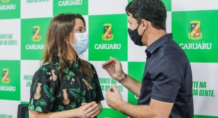 Raquel e Anderson se encontraram em Caruaru nesta sexta-feira (27)