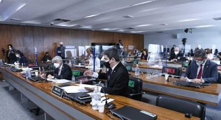 Sessão da CPI da Covid, no Senado Federal