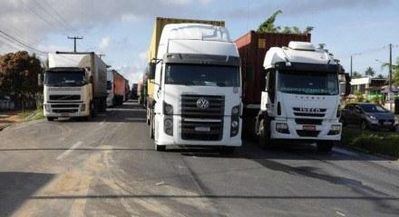 Em Pernambuco, há registro de concentração de caminhoneiros em Igarassu, no Grande Recife (foto), e no distrito de Guadalajara, em Paudalho, na Zona da Mata Norte do Estado