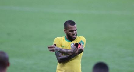 Jogo entre o Brasil e o Peru. Partida valida pela eliminatórias da copa do mundo Fifa 2022 na Arena de Pernambuco, em São Lourença da Mata (PE),  nesta quinta-feira, 09 de setembro de 2021.