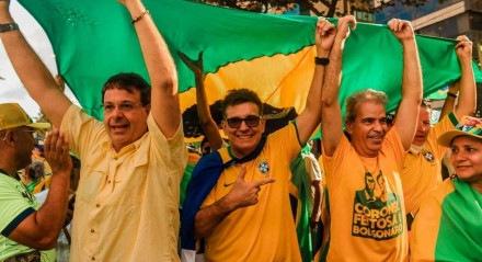 Gilson Machado, Coronel Meira e Alberto Feitosa participaram de manifestações em defesa do governo Jair Bolsonaro
