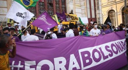 Personagens: Palavras-chave: Manifestação - Ato - Política - Democracia - Bolsonaro - Ciro - Lula ##
