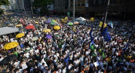 Ato de domingo (12) na Avenida Paulista