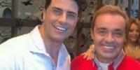 O ator e cantor Marcelo Augusto com o apresentador Gugu Liberato