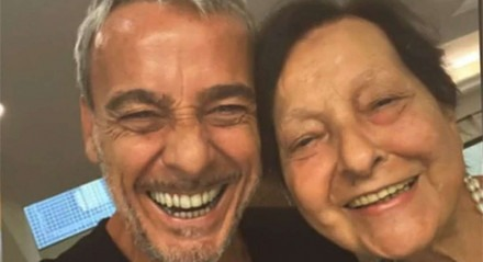 Alexandre Borges e sua mãe, Rosa Linda Maria Borges