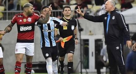 Gabigol discute com Felipão
