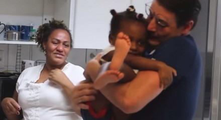 Bruno de Luca com Rosane e a pequena Sophia