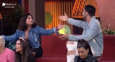 Solange Gomes e Rico Melquiades trocaram xingamentos ao vivo