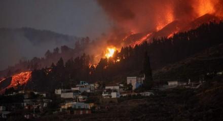 Erupção de vulcão na Espanha
