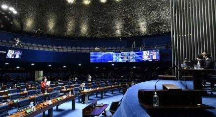 Plenário do Senado nesta quarta (22)